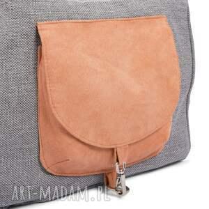 szare na ramię wielofunkcyjna torba big duo normal - jasny popiel