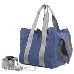 atrakcyjne na ramię wielofunkcyjna torba big duo normal - niebieska