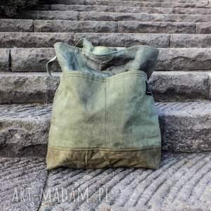 na ramię wytrzymała-torba torba canvas khaki ręcznie