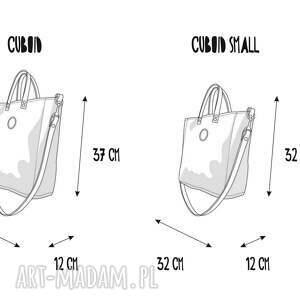 niebanalne na ramię wygodna torba cuboid glam pocket