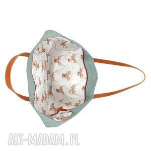 handmade na ramię ekoskóra torba cuboid maxi iv