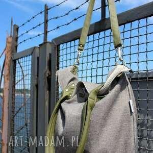 na ramię pojemna-torba torba damska worek city oliwkowa
