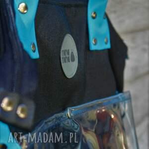 hand made na ramię torba na w fasonie worka wykonana z tkaniny
