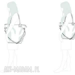 awangardowe na ramię torba-na-prezent torba damska z kieszonką
