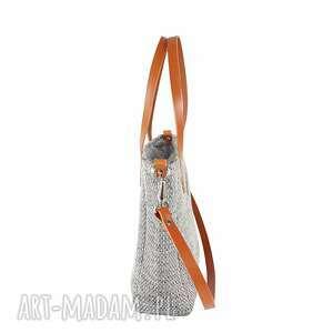 unikatowe na ramię torba damska cuboid #fotsy jasna