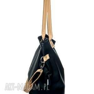 ciekawe na ramię czarna torba damska worek black camel