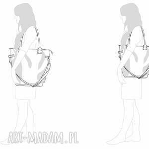 Torba damska na ramię studencka zamszowa - do szkoły do pracy