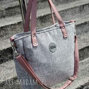 różowe na ramię elegancka torebka torba damska na cuboid