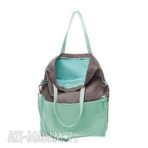 na ramię torba-do-pracy torba damska cube grey mint