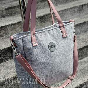 różowe na ramię elegancka-torebka torba damska cuboid