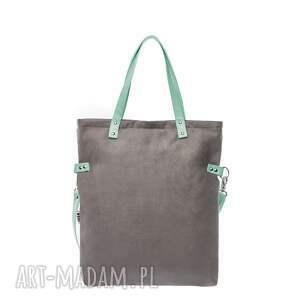 torba-do-pracy na ramię torba damska cube grey mint