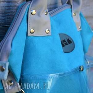 na ramię duża torba w fasonie worka wykonana z zamszu