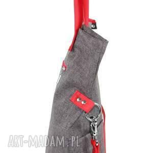 atrakcyjne na ramię mana torba damska cube city #red
