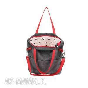 mana na ramię torba damska cube city #red