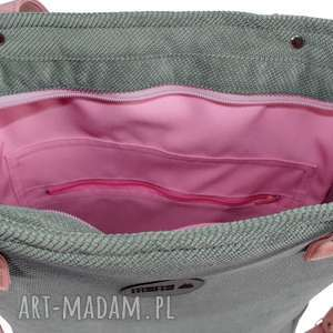 na ramię torba-do-szkoły torba damska cuboid szara