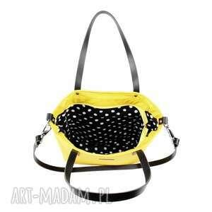 żółta torebka na ramię żółte torba damska cuboid yellow