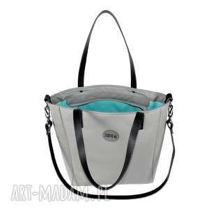 szare torebka damska torba cuboid na ramię