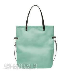 gustowne na ramię torebka-damska torba damska cube shiny mint