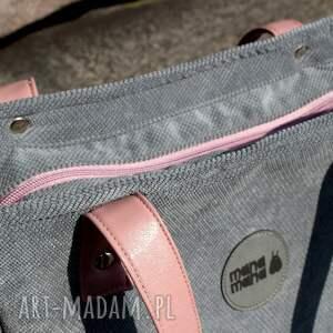 szare na ramię torebka-damska torba damska cuboid szara