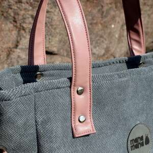 modne na ramię torebka-damska torba damska cuboid szara