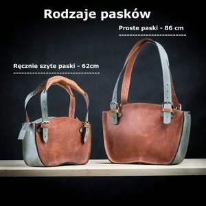na ramię torba-do-ręki torba rudo szara kuferek