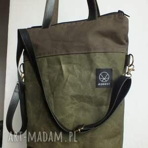 na ramię: - Ręcznie robione torba solidna
