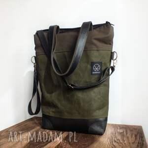 na ramię torba zielona solidna i wodoodporna - model nie