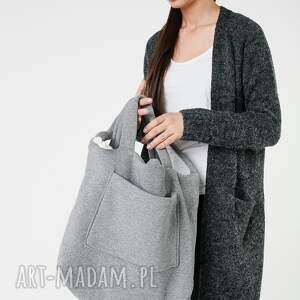 niepowtarzalne na ramię pojemna torba dzianinowa worek