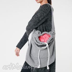 pojemna na ramię torba dzianinowa worek