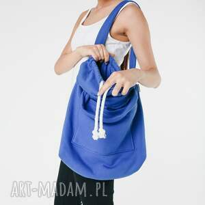 oryginalne na ramię dzianinowa torba worek kobatowa