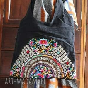 handmade na ramię orient torba etniczna haftowana