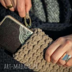 intrygujące na ramię sznurek torba - granat w dłoni