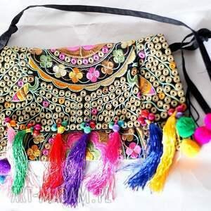 na ramię frędzle torba haftowana etniczna