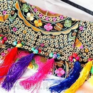 niebanalne na ramię torebka torba haftowana etniczna
