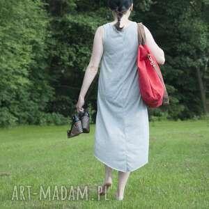 eleganckie na ramię hobo torba xxl - czerwień