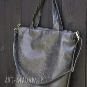 na ramię hobo torba xxl - grafit, rustykalna