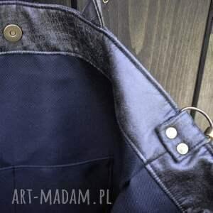 na ramię ekoskóra torba hobo xxl - grafit, rustykalna