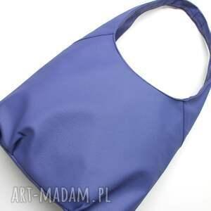 pomysł na upominek na święta elegancka torba hobo - fioletowa
