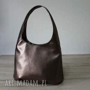 upominek elegancka torba hobo - miedziana