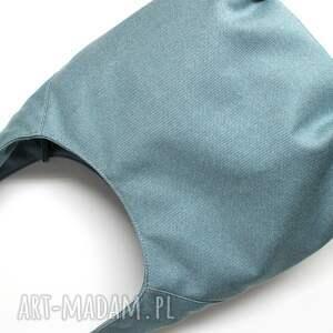 pomysł na świąteczne prezenty torba hobo - tkanina niebieska