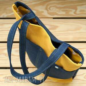żółte na ramię torebka torba hobo