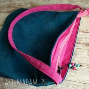 różowe na ramię torebka torba hobo