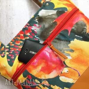 pomarańczowe na ramię jesienna torba