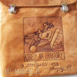 pomarańczowe na ramię skóra torba kobiety traktory
