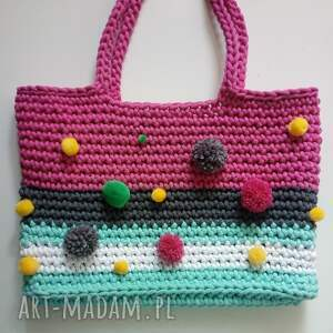 The Wool Art na ramię: torba koszyk bohostyle