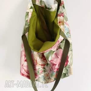 kolorowe na ramię komplet torba xxl kwiaty kosmetyczka