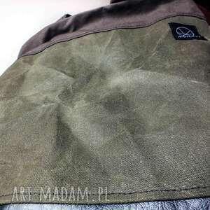 zielone na ramię torba na na canvas crushed