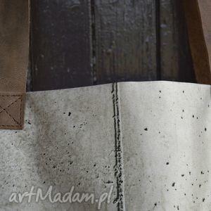 awangardowe na ramię oryginalna torba mr m beton / uszy skóra