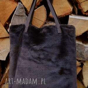handmade na ramię futro torba mr m czekoladowy miś /