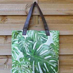 hand made na ramię monstera torba mr m green / uszy
